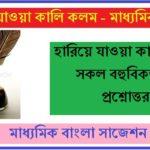 Madhyamik History Suggestion Hariye Jaowa Kali Kolom